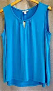 NWT Dana Buchman Royal Blue Swing Shell, Size XL